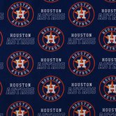 MLB Houston Astros Cotton Fabric